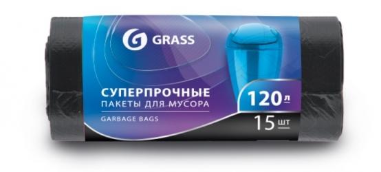 Мешок для мусора ПНД в рулоне 120л. 65*105 17 мкр. (черный)  (рул. 15 шт)