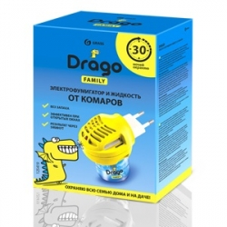 """Средство инсектицидное """"Жидкость от комаров"""". Комплект: электрофумигатор + жидкость от комаров Drago 30мл"""