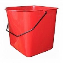 Ведро 23л для двойной уборочной тележки на 46л, пластик, красное IT-0270