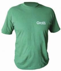 Футболка зеленая с логотипом, L