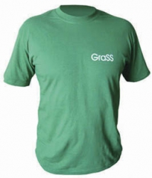 Футболка зеленая с логотипом, XL