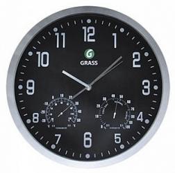 Часы с логотипом GraSS (черные)