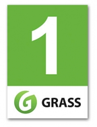 "Наклейка для бокса ""1 GRASS"""